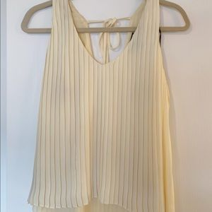 Forever 21 dressy pale yellow top